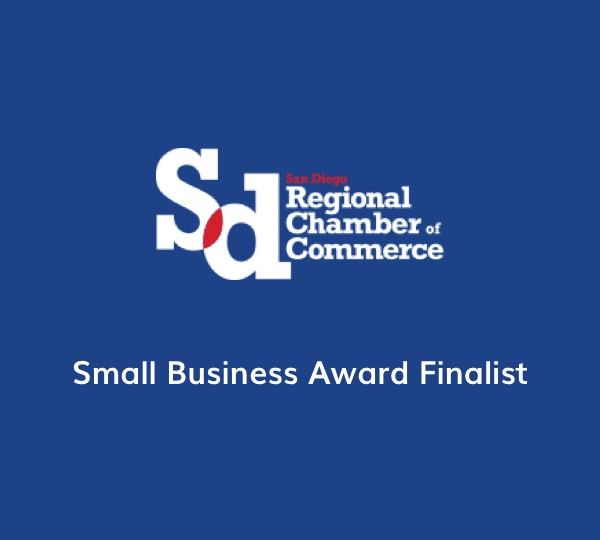 San Diego Chamber of Commerce Small Business Award Finalist