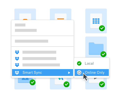 online-sync-save-space